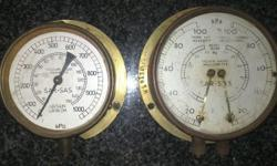 I have 2 original steam engine gauges, 1 is a vacuum