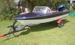 Gazelle boat with a 65hp Crescent MARLIN motor on