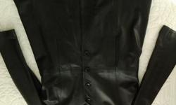 Beautifull genuine leather coat. Size xl. For ladies.