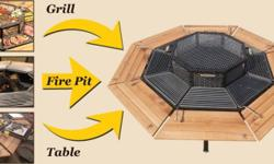 � 2mX2m in size � Octagon Shape � 8 Separate Grilling &