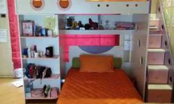 Girls double bunk Bed. Stairs are also drawers. Ages