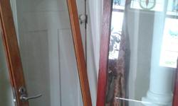 Soort: Glass doors in wooden frame Selling x2 solid