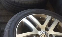 Golf 6 tsi rims with tyres front 30 % back 85 % R4000
