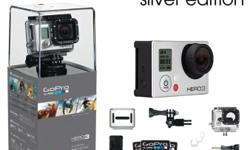 GoPro Hero 3 silver edition for sale. Virtually brand