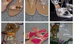 Gorgeous imported sandals in flat or heels..beautifully
