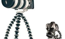 A lightweight mini tripod with flexible ball legs for