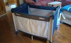 Graco camp cot in good condition. Folds easily and