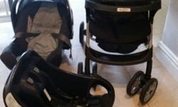 Graco Pram, car seat and car seat base for sale.
