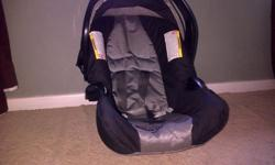 Black and grey pram and car chair for sale. Price R1200