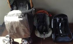 Pram, car seat and base, in very good condition with