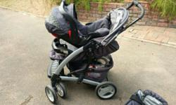 Graco pram, snug and save and carry cot for sale. Still