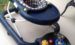 Baby walker in good condition with attachable steering