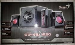 Genius 4 Piece Gaming Speaker system. 38watts rms 2.1