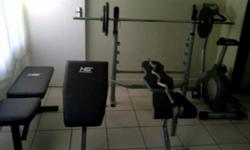 Beskrywing HEY I HAVE A GYM SET FOR SALE IT IS IN