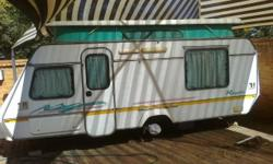 1995 Gypsey Royale caravan with aircon, full tent,