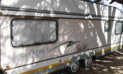 Gypsy 5 caravan for sale. Full tent and rally awning.