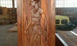 Exclusive hand made teak doors made out of the best