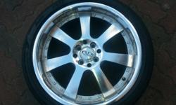 18 INCH 4 X 100/114 PCD USED RIMS & TYRES SIZE : 18