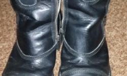 Size 8 Harley Davidson genuine leather boots for sale.