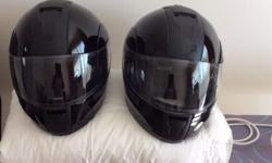 Two Harley crash helmets for sale. Sizes Medium and