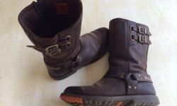 Leather Harley Davidson boots, size 8(UK), 42. Very