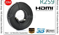 Product Description 20M Full 1080P 3D Flat HDMI Cable