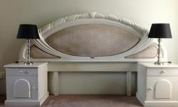 Headboard and dressing table in excellent condition.