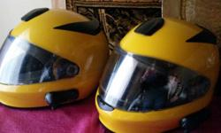 Small and Mexium BMW helmets with bluetooth comm