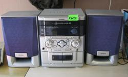 Good condition 3 Disc CD Player Double Tape Deck Cash