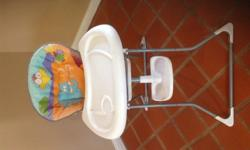 High chair, reasonable condition. No straps. Collect in