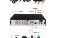 Brand new CCTV kit with cameras ,cable ,brackets ,dvr
