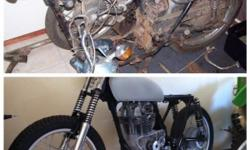 "Selling a 69"" Honda CB350 Twin, this is a unfinished"