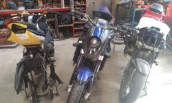 Honda CBR 600 and 1000 Spares and Rebuilds for Sale. If