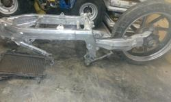 Nsr 250 frame with Vfr 400 single sided swingarm and