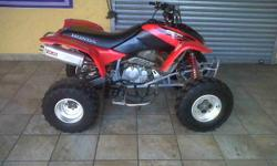 Adventure seeking quad, lots of power, very strong,