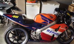 Great bike at a great price. Honda VFR 400 with REPSOL