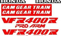 Honda VFR 400R ( Pro - Arm ) 1987 model decal kit. Self