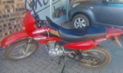 Honda Motorcycle NXR 125 CC . Good condition, papers,