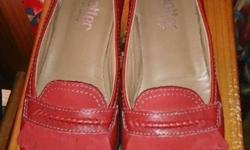 Hotter Comfort Ladies shoes-New -Red -Size UK 4.5 -Made