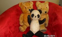3 x collectable antique Teddies; R800.00