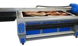 The hybrid UV Flatbed printer is 1.22m flatbed 1.8m rol