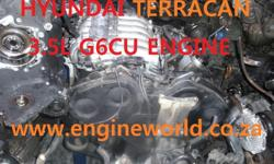 Hyundai Terracan 3.5L G6CU engine[used/imported] Good