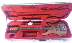 Ibanez SR505 bass guitar and matching velvet case. The