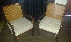 Imbuia lounge set 7 piece Antique 6 Single seaters and