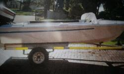 Impala ski boat with 55HP Yamaha motor with cover and