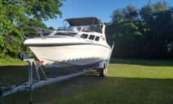 23ft Interceptor, 2 x 115 Yamaha, new props, spare