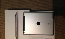 Black, 16 gb ipad 2 in excellent condition. Box and