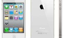 Iphone 4, White. Comes with complete box and