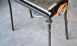 Italian brand, stainless steel Gas Braai without gas