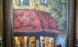 Beskrywing J Tuckett Original Paining - Bistro for sale